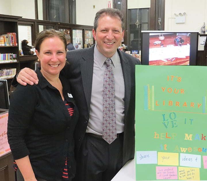 Friends of Carroll Gardens Library hold an open house,  by George Fiala