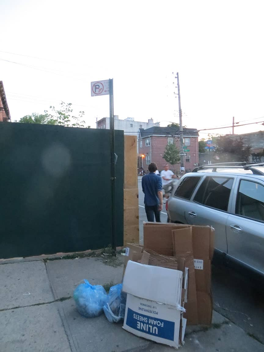 After Red Hook Walks, Van Brunt  becomes an obstacle course, by George Fiala