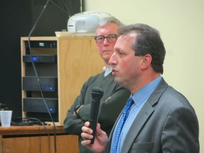 Council member Brad Lander opposes Fortis plan for a rezoning of the LICH campus, by George Fiala