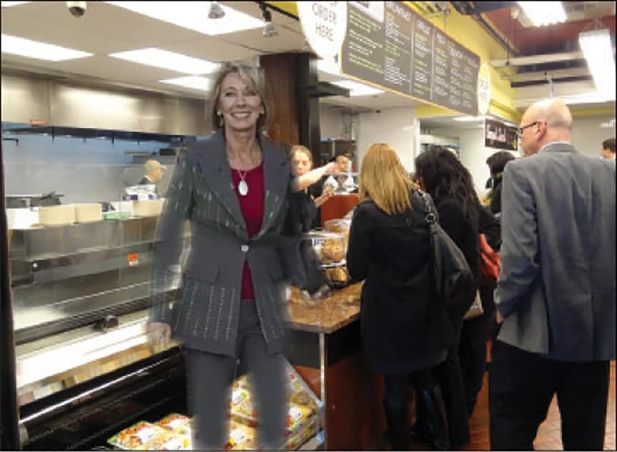 Betsy DeVos Visits Fairway? by Mark Penz